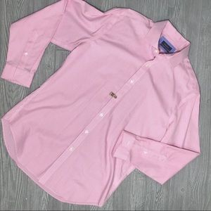 Esquire men's 32-33 pink and white dress shirt